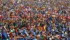 Una multitud abarrota Cuatro Vientos