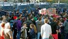 Jóvenes se echan a la calle en Valencia
