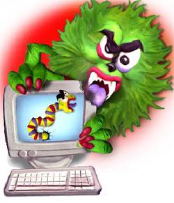 Virus,gusanos y 'spam': los principales riesgos de Internet (Ilustración: Miguel Cerro)