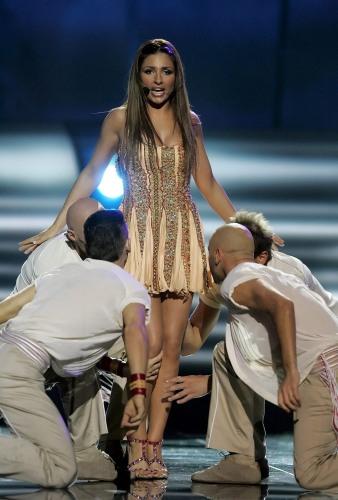 eurovision ganadora. Un momento de la actuación de la concursante griega