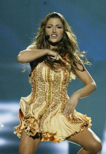 eurovision ganadora. Helena Paparizou durante su interpretación de