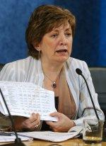 La ministra de Educación y Ciencia, María Jesús San Segundo