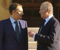 Zapatero se reúne con el Rey