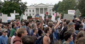 Manifestación contra la guerra (EFE)