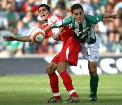 Un momento del partido disputado en Sevilla