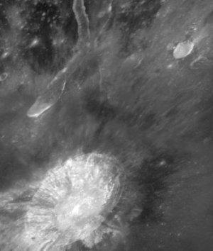 El cráter Aristarco donde el Hubble ha encontrado la fuente de oxígeno (Hubblesite.org)