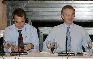 Zapatero y Blair