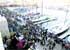 Baño de masas en Sanxenxo