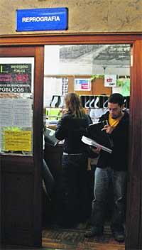 Cada universitario gasta  126 1/curso en fotocopias