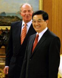 Hu Jintao y el Rey en La Zarzuela