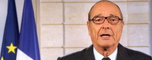 Chirac, en su comparecencia en la televisión francesa