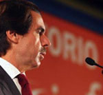 Aznar, durante su intervención en Washington