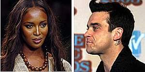 Naomi Campbell y Robbie Williams
