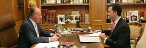 Rey Juan Carlos y el Príncipe Felipe