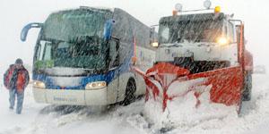 Nieve carreteras