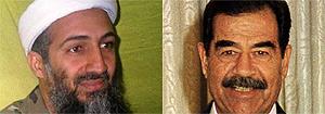 Bin Laden y Sadam Husein