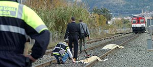 Los dos niños arrollados por un tren en Murcia
