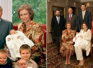 La reina posa con el mismo vestido que luce el día de las primeras fotos oficiales de Leonor