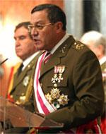 El general Mena, durante su intervención del viernes