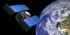 Dibujo del 'Stardust' aproximándose a la Tierra (NASA).
