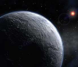 Impresión artística del nuevo planeta bautizado como OGLE-2005-BLG-390Lb