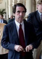 Aznar llegaba este sábado a la conferencia de la IDC en Manila