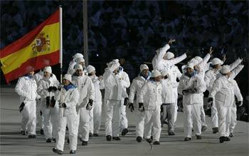 El equipo español, en la Apertura de Turín 2006