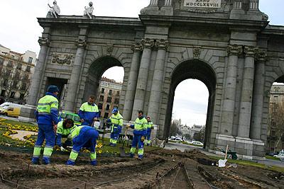 Puerta de Alcalá reparaciones