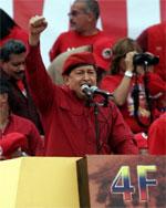Hugo Chávez, durante un 'meeting'. (Foto: Reuters)