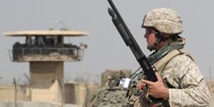 Soldado americano en Abu Ghraib.