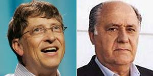Will Gates y Amancio Ortega, los hombres más ricos del mundo y España respectivamente.