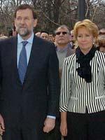 """Rajoy y Aguirre, en el homenaje a los """"Ausentes"""""""