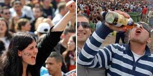 """""""Los jóvenes franceses se movilizan pero los españoles beben"""", ha titulado 'The Times'"""