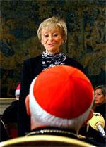 María Teresa Fernández de la Vega, en el Vaticano (Foto: Efe)