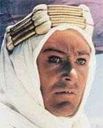Peter O'Toole, caracterizado como Lawrence de Arabia