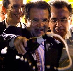 Prodi celebra la victoria
