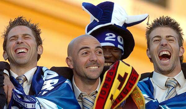130406 -El Espanyol celabra Copa del Rey