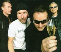 U2, celebrando �ste u otro triunfo