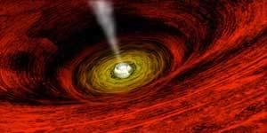 Concepción artística de un agujero negro (NASA).