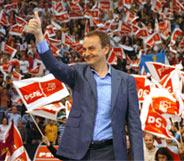 Zapatero, en el Palacio Vistalagre de Madrid (Foto: Efe)