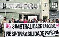 Protestas contra la patronal