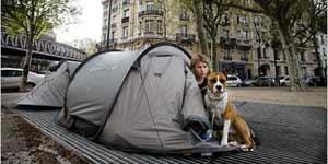 Tiendas de campaña en París