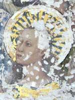 Detalle de una de las pinturas encontradas en la Catedral de Toledo. (Efe)