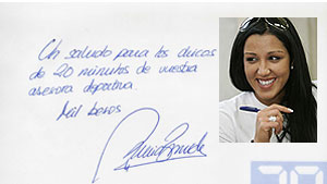 Nuria Bermúdez autógrafo
