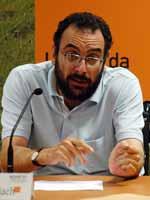 Romañach, durante una de las innumerables conferencias en las que participa.
