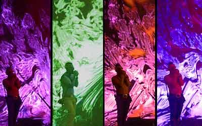Mosaico fotográfico con varios momentos de la actuación de Tool en el Festimad 2006 (Foto: Antonio Fraguas).