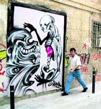 Limpiar los 'graffiti' cuesta más de 1.000 euros al día