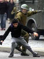 La policía chilena actuó con contundencia contra los estudiantes. (Efe)