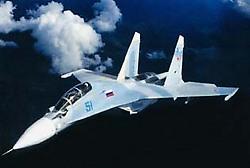 Caza ruso Sukhoi 30