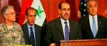Anuncio de la muerte de Al-Zarqaui (FOTO: CNN).